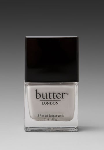 I love Butter nail polish, and this edgy yet neutral white polish ($14) is completely toxin-free. — Annie Scudder, editor