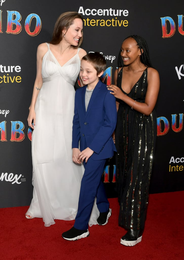 Angelina attended the premiere of Disney's live-action Dumbo movie with Knox and Zahara in March 2019.