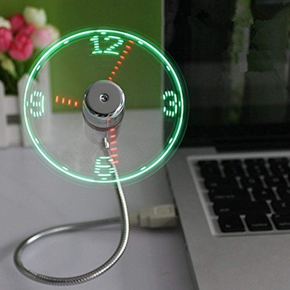 ONXE USB LED Clock Fan