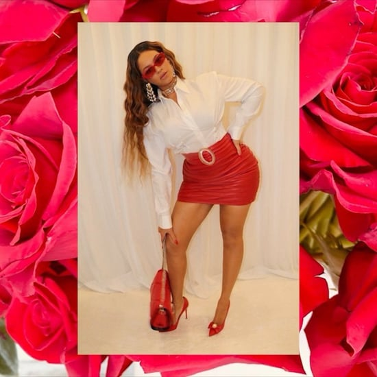 Beyoncé's Valentine's Day Red Leather Alessandra Rich Skirt