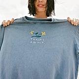 Thanks A Bunch Embroidered Crew Neck Sweatshirt