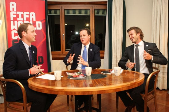 Pictures of Prince William, David Beckham, and David Cameron