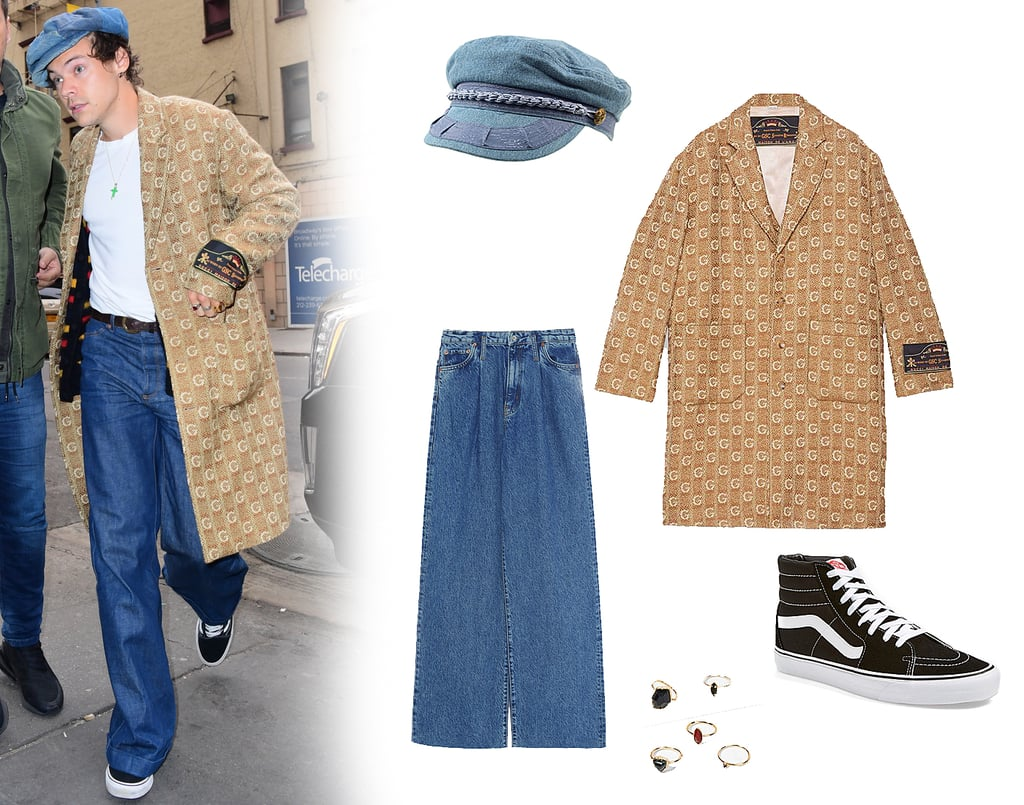 Harry Styles Wears a $4K Gucci Coat and Vans Sneakers in NYC