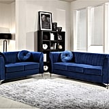 US Pride Furniture Valak 2-Piece Velvet Living Room Set
