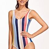 Shein Striped Backless One-Piece