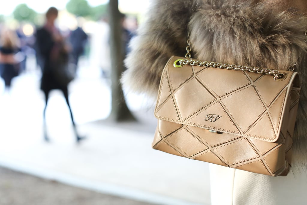 A quilted classic is always a good look, but it looked especially chic against luxe fur.