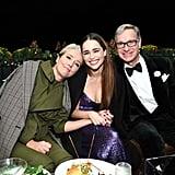 Emma Thompson, Emilia Clarke, and Paul Feig at the Last Christmas Premiere