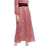 Maje Romilda Leopard Print Midi Dress