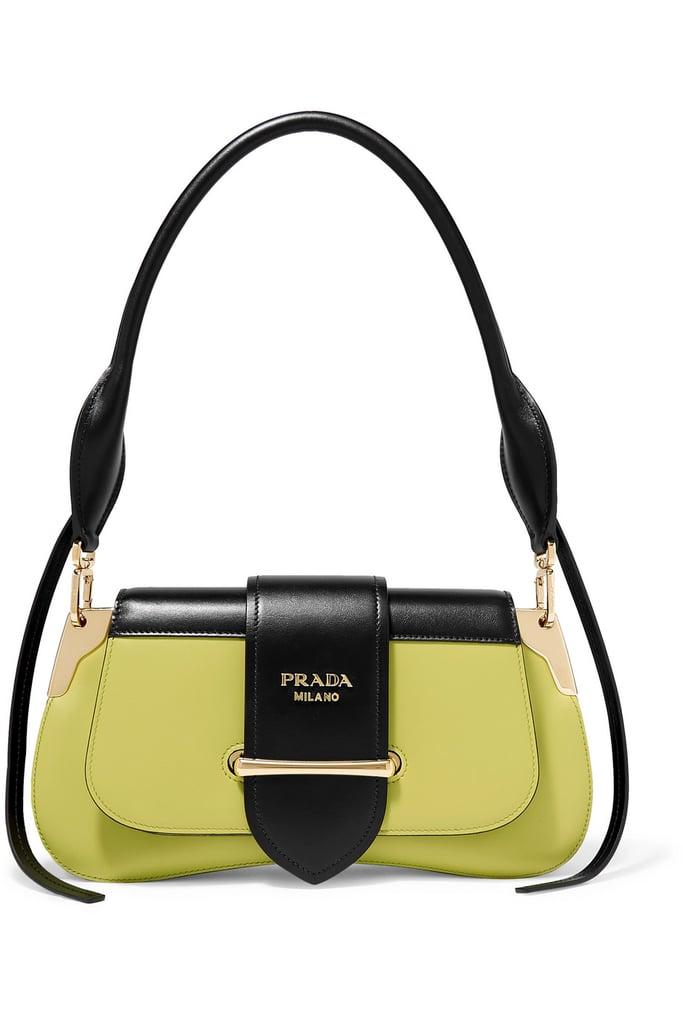 dd85bfb4c6eca Prada Sidonie Two-Tone Leather Shoulder Bag