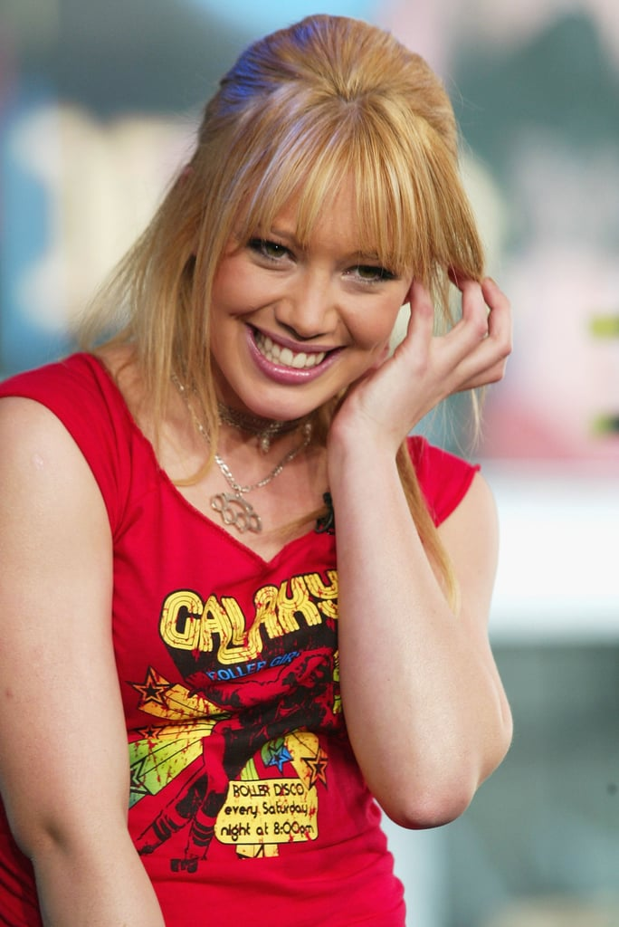 Hilary Duff was all smiles during a TRL appearance in 2003.