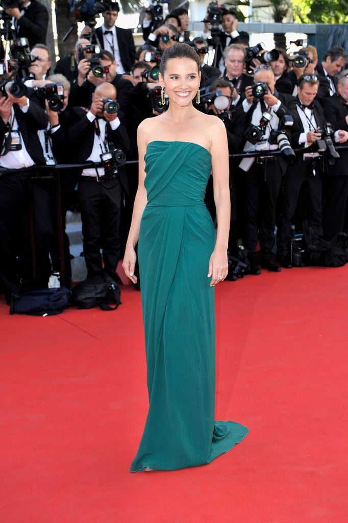 Virginie Ledoyen wore a green gown to the opening of the Cannes Film Festival and the premiere of Moonrise Kingdom.