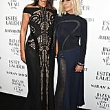 Dame Natalie Massenet and Donatella Versace
