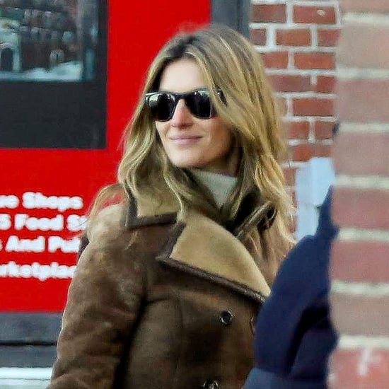 Tom Brady and Gisele Bundchen in the Boston Snow