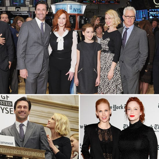 Mad Men Cast Ringing NYSE Opening Bell Pictures