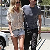 Kate Bosworth stayed close to Michael Polish as they picked up lunch in LA.