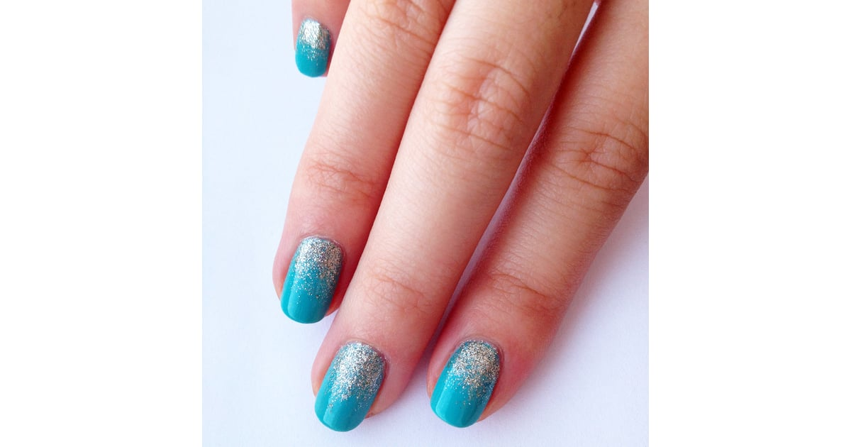 Diy Tiffany Blue And Glitter Ombre Nail Art Popsugar Beauty Australia
