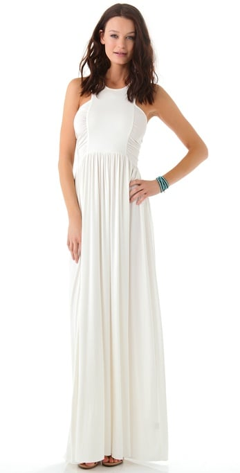 This was made for the carefree bride — and any bride who wants to show off her toned arms.  Rachel Pally Henri Dress ($233)