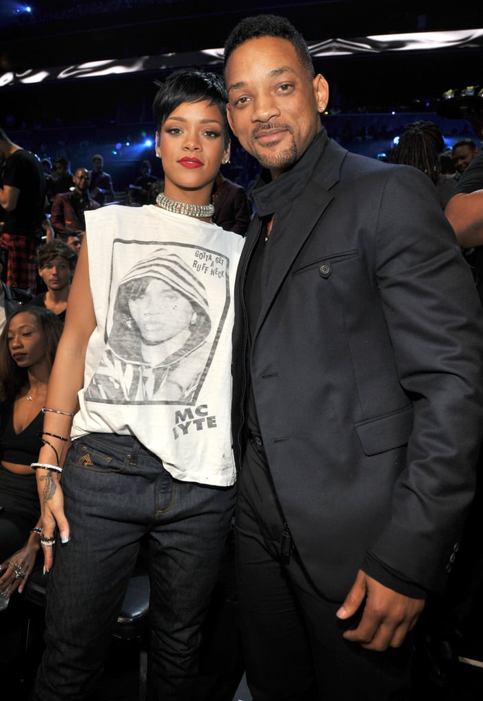 Rihanna caught up with Will Smith at the VMAs.