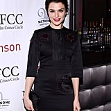 Rachel Weisz wore a black dress.