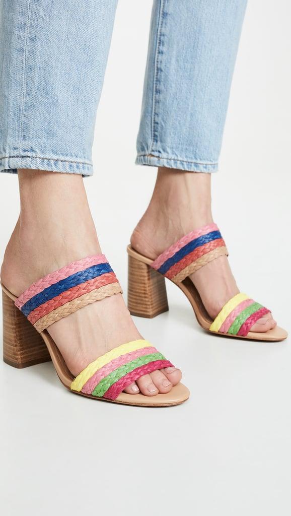 alice + olivia Leeda Double Strap Sandals