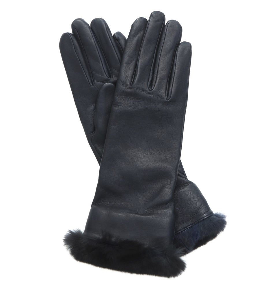 These Agnelle lamb leather and orylag fur gloves ($214) are beautiful from start to finish, and with their no-fail hue and soft, luxe fur trim, you can't go wrong.