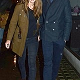 Eddie Redmayne led the way for his girlfriend, Hannah Bagshawe, in the UK.
