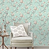 Fine Decor Chinoiserie Seafoam Floral Wallpaper