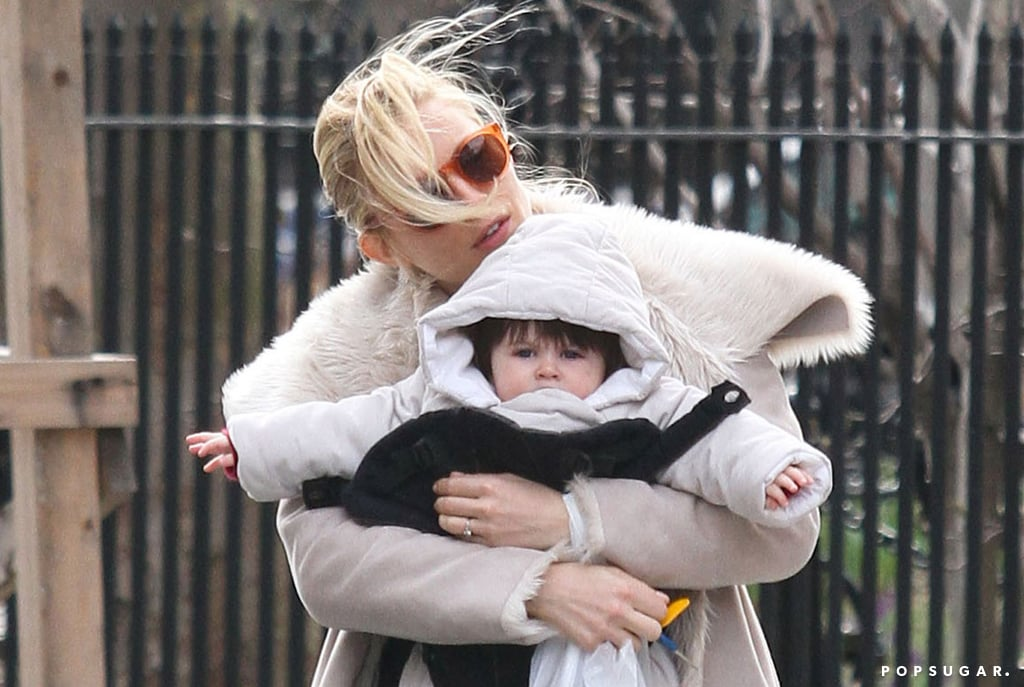 Sienna Miller got blown by a wind gust.