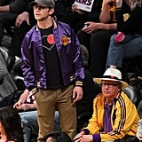 Joseph Gordon-Levitt went to the Lakers game.