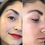 Left: Brows From February / Right: Current Brow