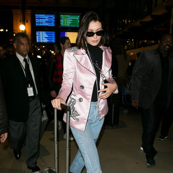Bella Hadid Wearing Pink Dilara Findikoglu Jacket