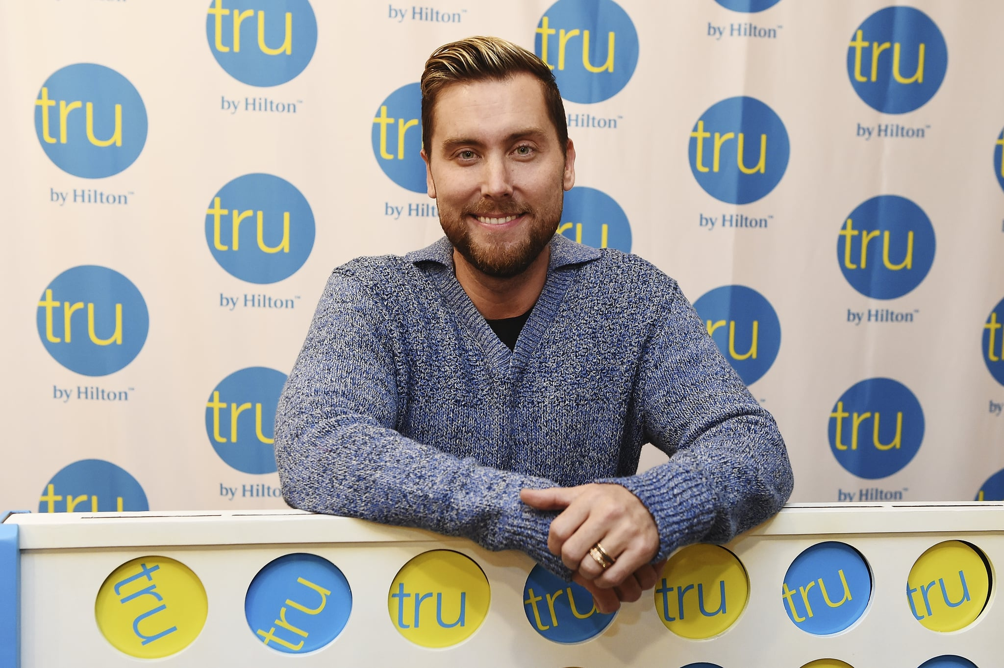 SALT LAKE CITY, UTAH - NOVEMBER 29: *NSYNC member Lance Bass hosts the Tru Connections event, celebrating Tru by Hilton's rapid growth to 50 open hotels with a giant CONNECT 4 tournament at Tru by Hilton Salt Lake City Airport on November 29, 2018 in Salt Lake City, Utah. (Photo by Fred Hayes/Getty Images for Tru by Hilton)