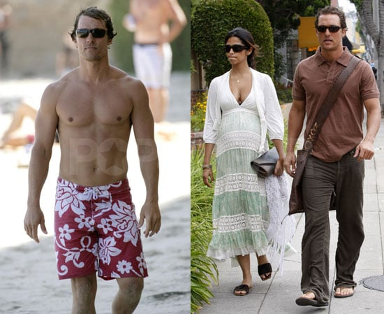 Photos of Matthew McConaughey Shirtless At the Beach 6/14/08