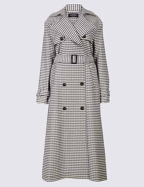 Marks and Spencer Gingham Trench Coat