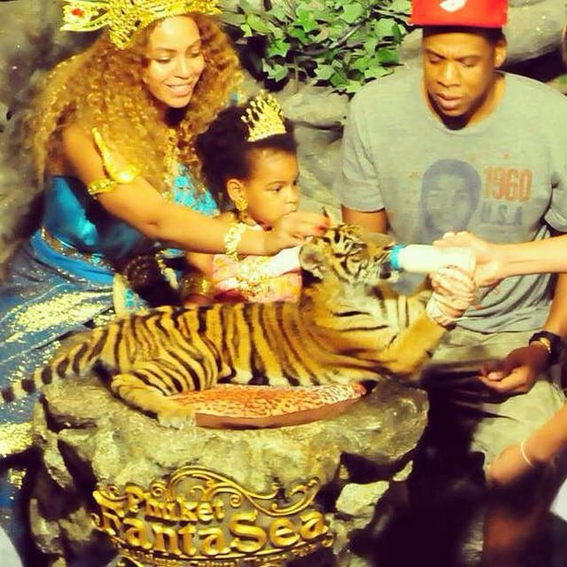 Photos of Beyonce and Blue Ivy Carter