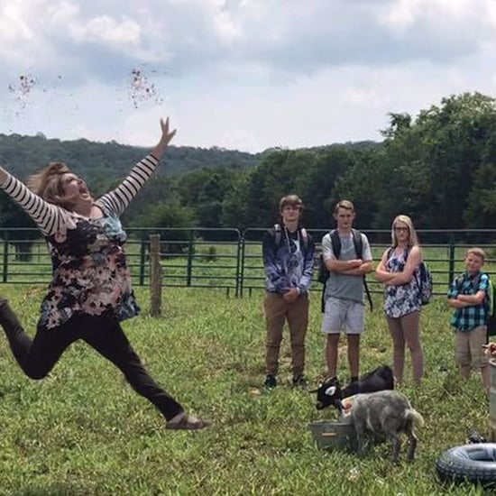 Mom's Jumping For Joy Back-to-School Photo 2017