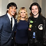 Pictured: Bob Morley, Eliza Taylor, and Thomas McDonell.
