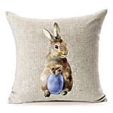 Watercolor Easter Bunny Pillow