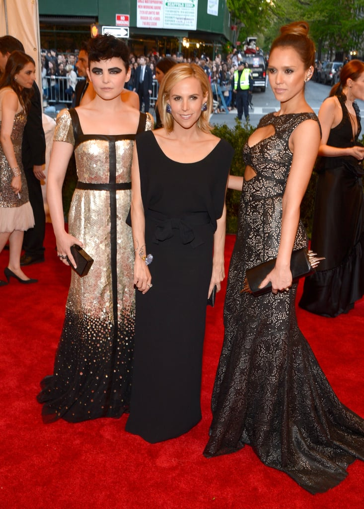 Ginnifer Goodwin, Tory Burch, and Jessica Alba at the Met Gala 2013.