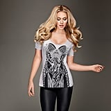 Kardashian Kollection Women's Metallic Corset Print Tee ($29, originally $42)