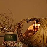 Bamboo Basket Candle Holder