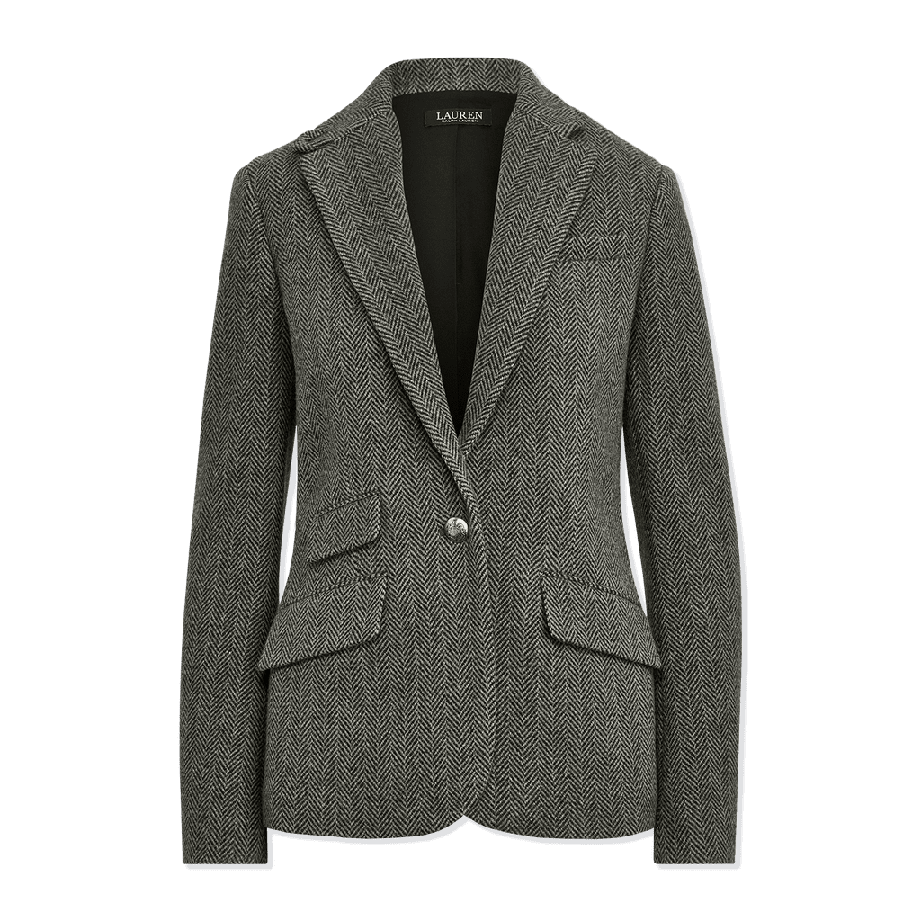 Lauren Ralph Lauren Herringbone Wool-Blend Blazer