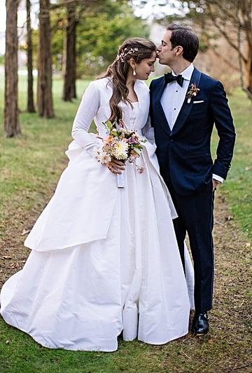 Shoe Designer Sarah Flint Reem Acra Wedding Dress and Heels