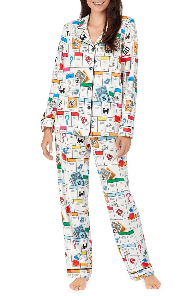 BedHead Pajamas Monopoly Print Long Sleeve Stretch Cotton Pajamas