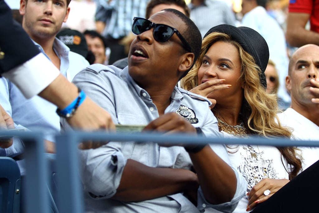 Jay-Z and Beyoncé Knowles greet a fan.