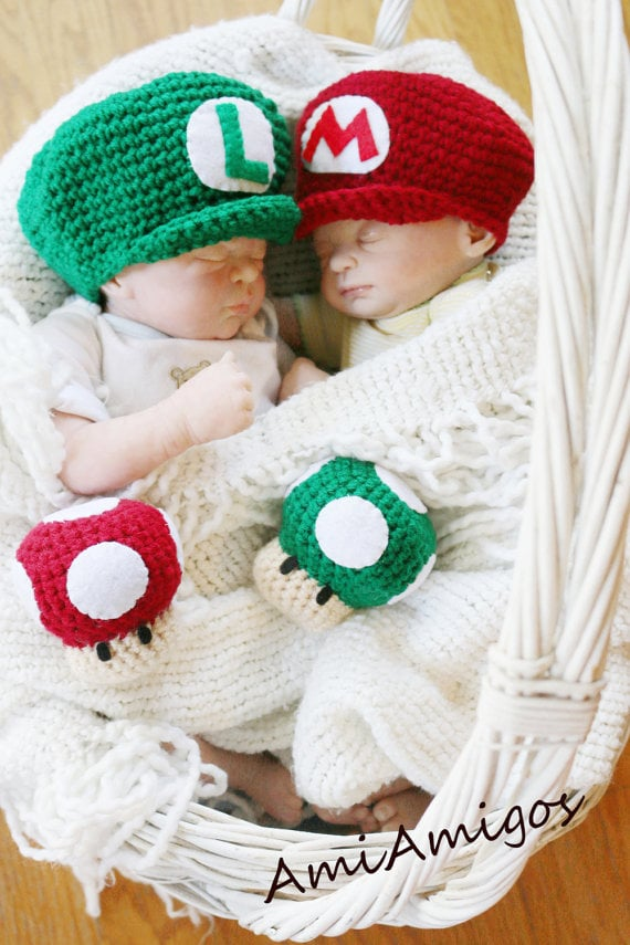 Super Mario & Luigi Hat Set