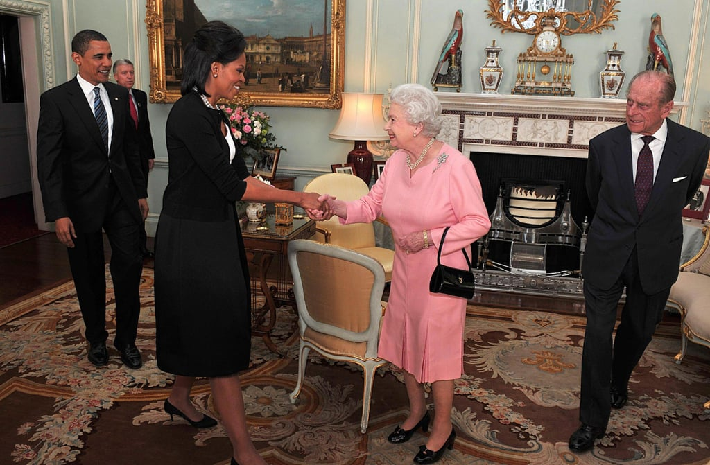 "Michelle Obama got a lot of heat for breaking protocol and hugging Queen Elizabeth II at Buckingham Palace's G20 Summit back in 2009, but as it turns out, the Queen's stance on royal etiquette isn't as strict as you'd expect. The former first lady is currently on a press tour for her new memoir, Becoming, and in an interview with UK's Press Association in London on Monday, Michelle revealed the Queen's surprising take on protocol. ""So I had all this protocol buzzing in my head, and I was like 'don't trip down the stairs and don't touch anybody, whatever you do,'"" Michelle said, referring to the time the Queen picked her up during a visit to Windsor Castle in 2016. ""And so the Queen says, 'Just get in, sit wherever' and she's telling you one thing and you're remembering protocol and she says, 'Oh it's all rubbish, just get in.'""  Royal protocol states that greetings shouldn't go beyond a handshake, but clearly the Queen believes that some rules are meant to be broken. Michelle also revealed that Barack Obama is a ""huge fan"" of the Queen and that she reminds him a lot of his own grandmother, Toot. ""She's smart and funny and honest,"" she added.   The Obamas have been friends with the royal family ever since their first meeting back in 2009. In fact, on Tuesday, it was reported that Michelle finally met Meghan Markle. According to People, the Duchess of Sussex stopped by Michelle's book signing at the Southbank Centre and they spoke about ""the importance of supporting and empowering women across all cultures and communities.""  Michelle also recently gave Meghan a few words of advice as she adjusts to her new role as a royal in an interview with Good Housekeeping. ""My biggest advice would be to take some time and don't be in a hurry to do anything,"" the former first lady said. Hopefully Michelle and Meghan bring Prince Harry and Barack along the next time they meet — and there will be a next time, of that we're sure.       Related:                                                                                                           10 of the Wildest Rules the British Royal Family Has to Follow"
