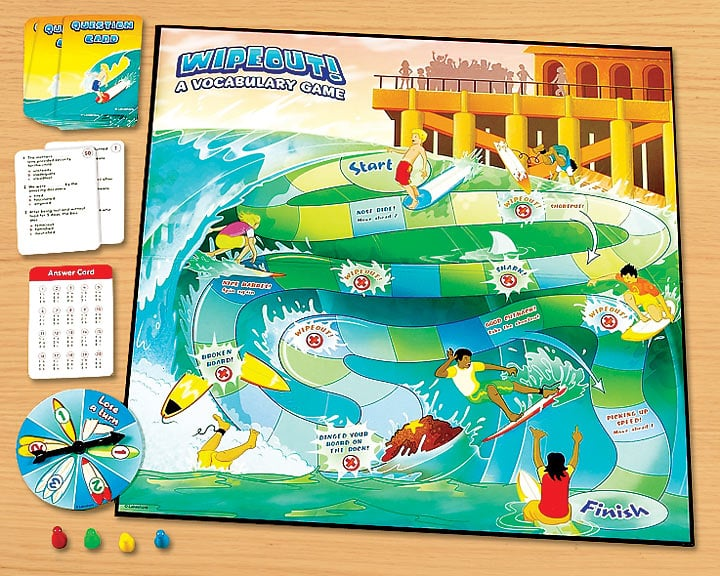 Toy Vocabulary Game : Wipeout vocabulary game educational toys for summer
