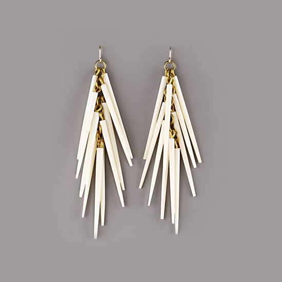 Ashley Pittman Light Horn Quill Earrings, $225