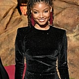 Pictured: Halle Bailey at The Lion King premiere in Hollywood.